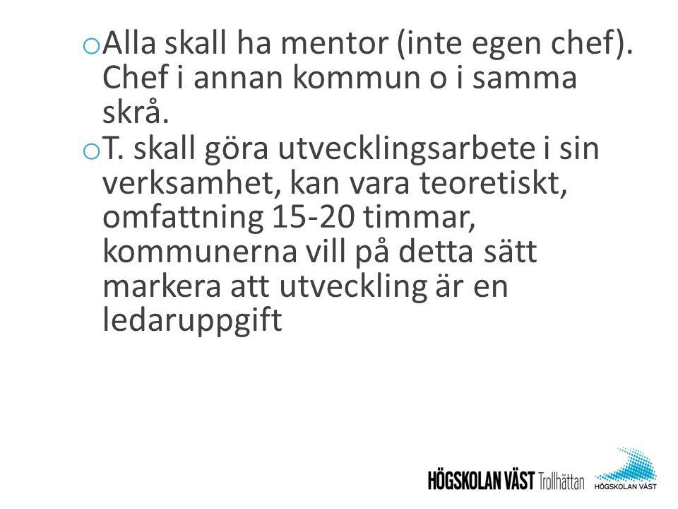 Alla skall ha mentor (inte egen chef)