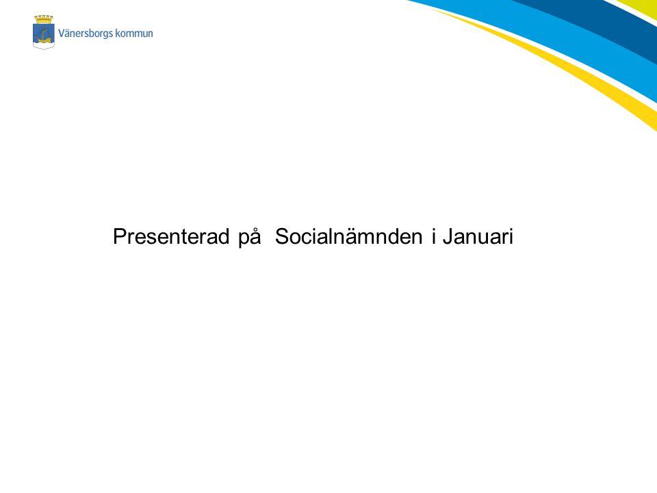 Presenterad på Socialnämnden i Januari