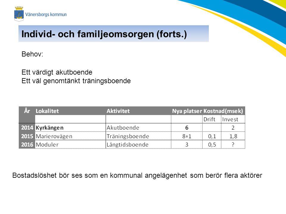 Individ- och familjeomsorgen (forts.)