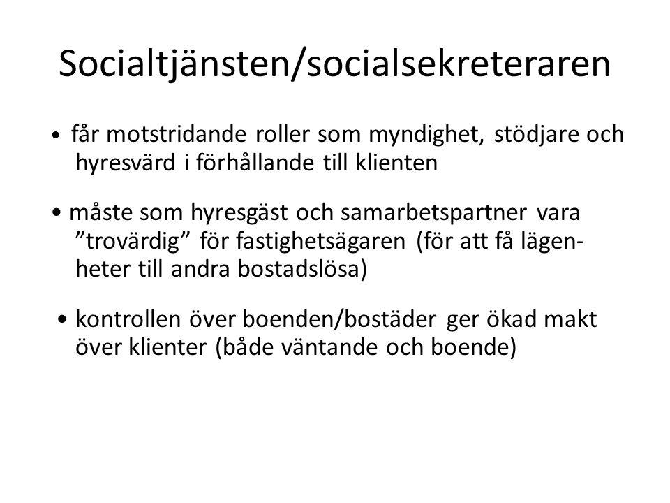Socialtjänsten/socialsekreteraren