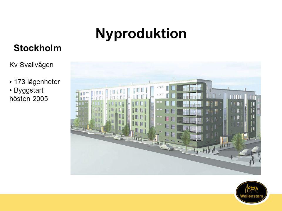 Nyproduktion Stockholm Kv Svallvågen 173 lägenheter