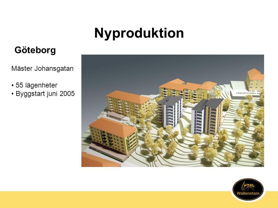 Nyproduktion Göteborg Mäster Johansgatan 55 lägenheter