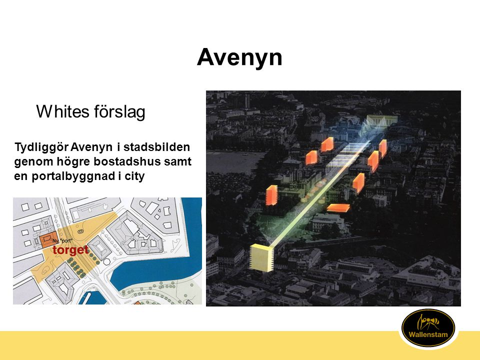 Avenyn Whites förslag Tydliggör Avenyn i stadsbilden