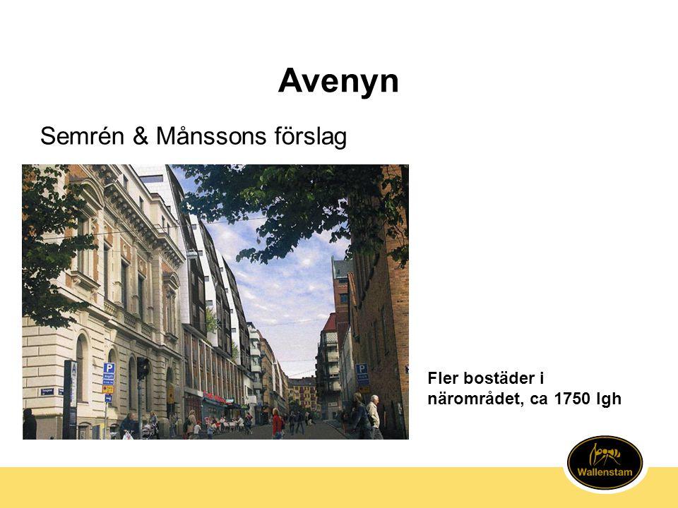 Avenyn Semrén & Månssons förslag Fler bostäder i