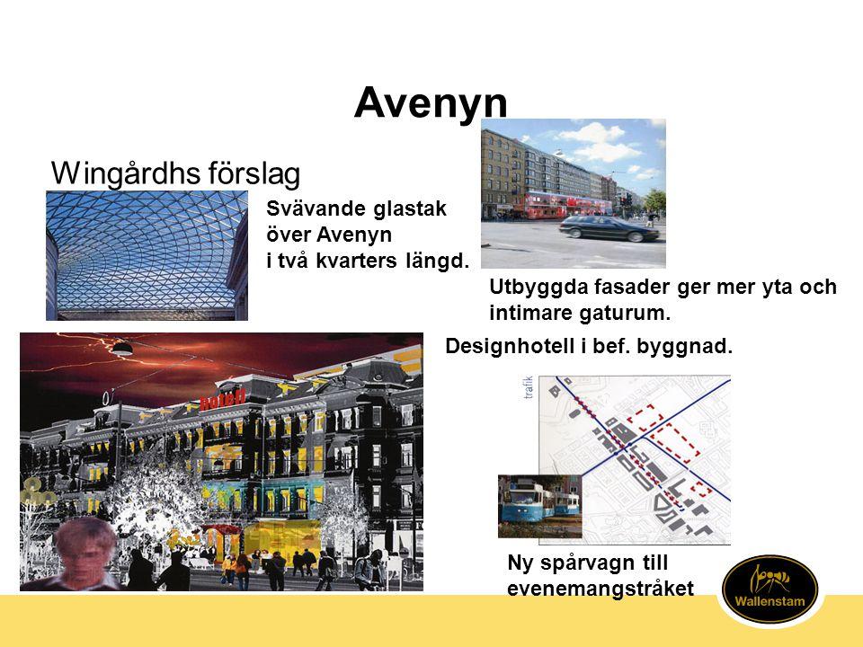 Avenyn Wingårdhs förslag Svävande glastak över Avenyn