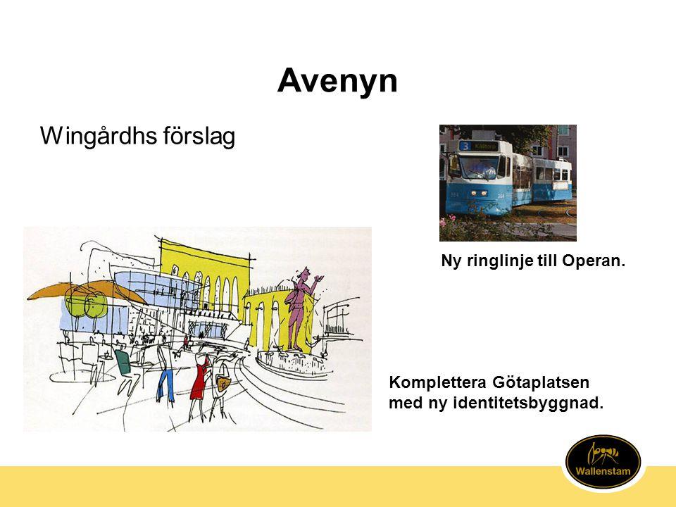 Avenyn Wingårdhs förslag Ny ringlinje till Operan.