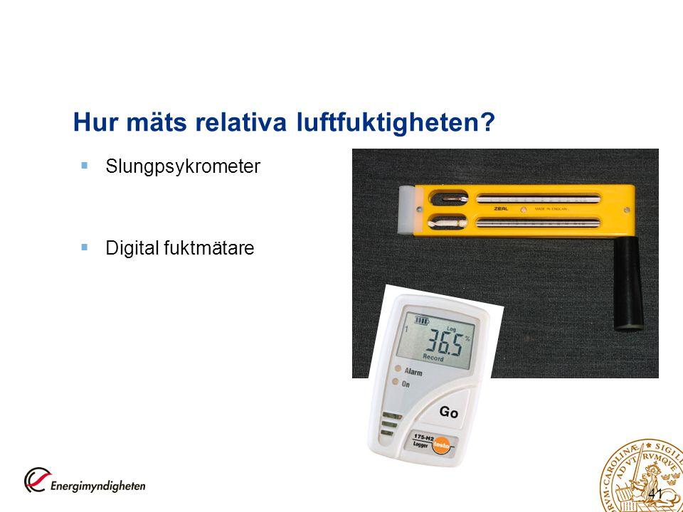Hur mäts relativa luftfuktigheten