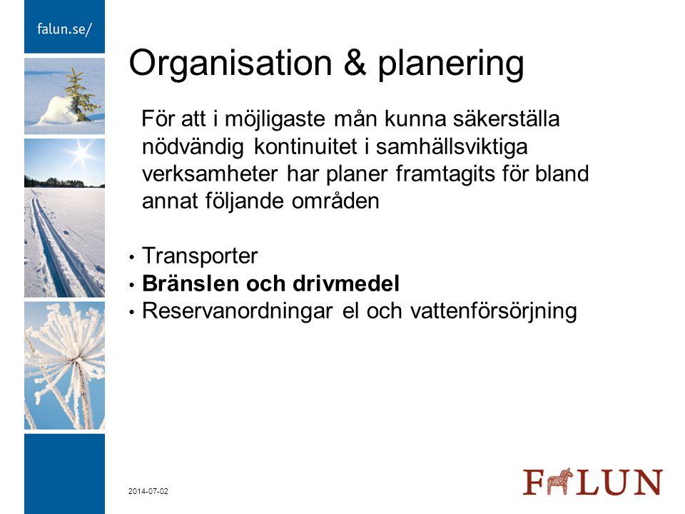 Organisation & planering