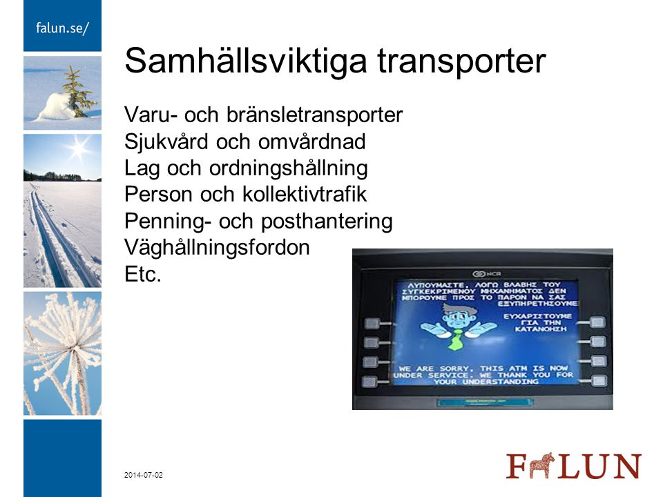 Samhällsviktiga transporter