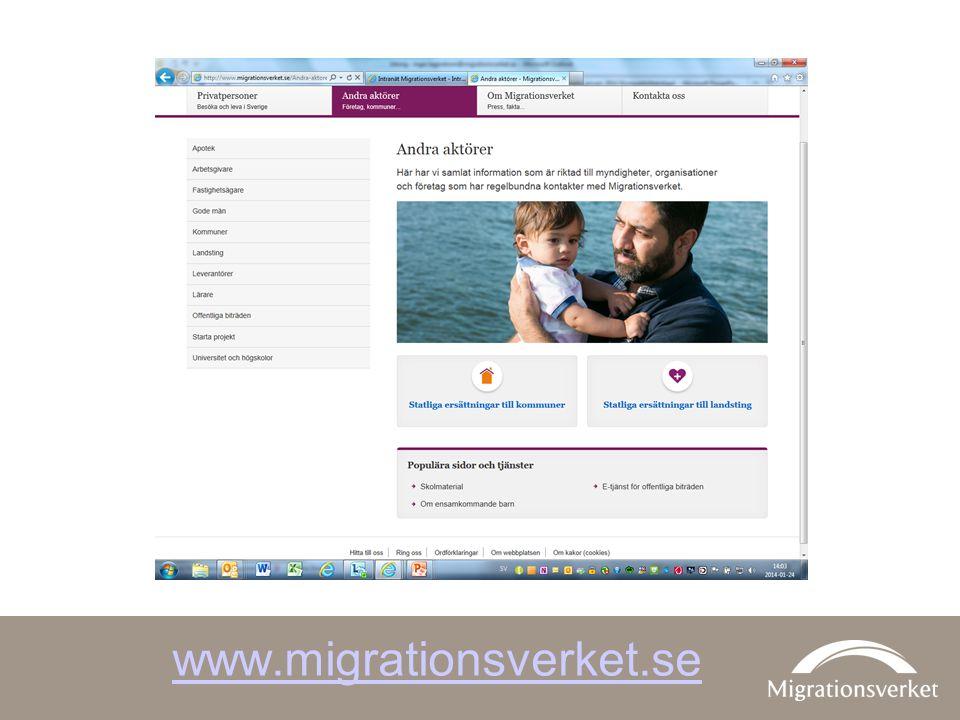 På Migrationsverkets webbplats finns utförlig information som riktar sig till olika samhällsaktörer. Under rubriken Skydd och asyl i Sverige finns också filmer som riktar sig till asylsökande, där man kan följa alla steg som den asylsökande ska följa efter att ha gjort en asylansökan.