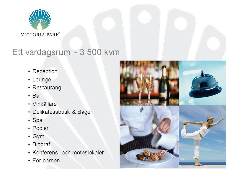 Ett vardagsrum - 3 500 kvm Reception Lounge Restaurang Bar Vinkällare