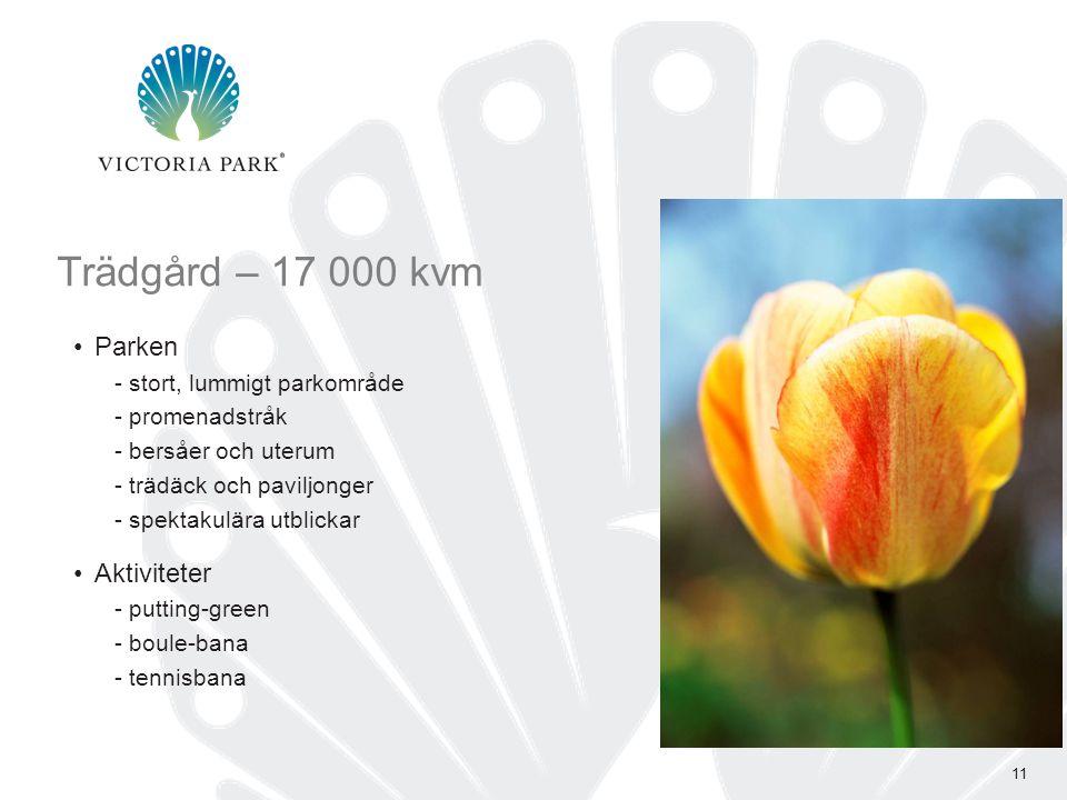 Trädgård – 17 000 kvm Parken Aktiviteter - stort, lummigt parkområde