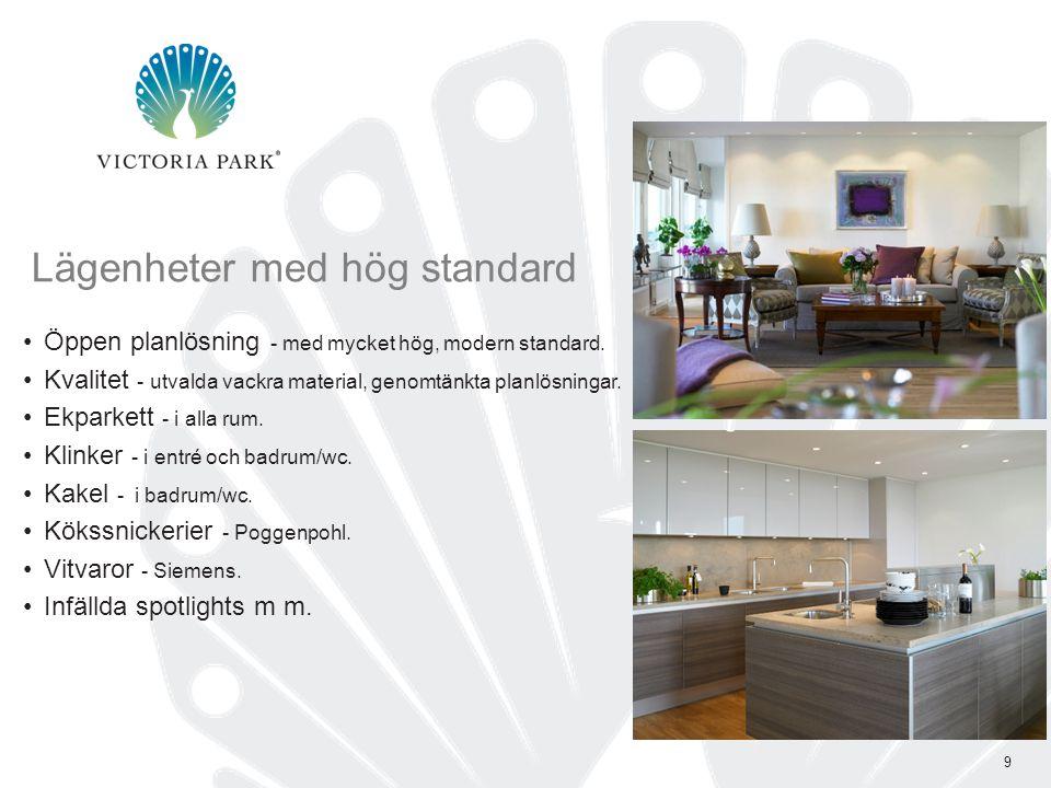 Lägenheter med hög standard