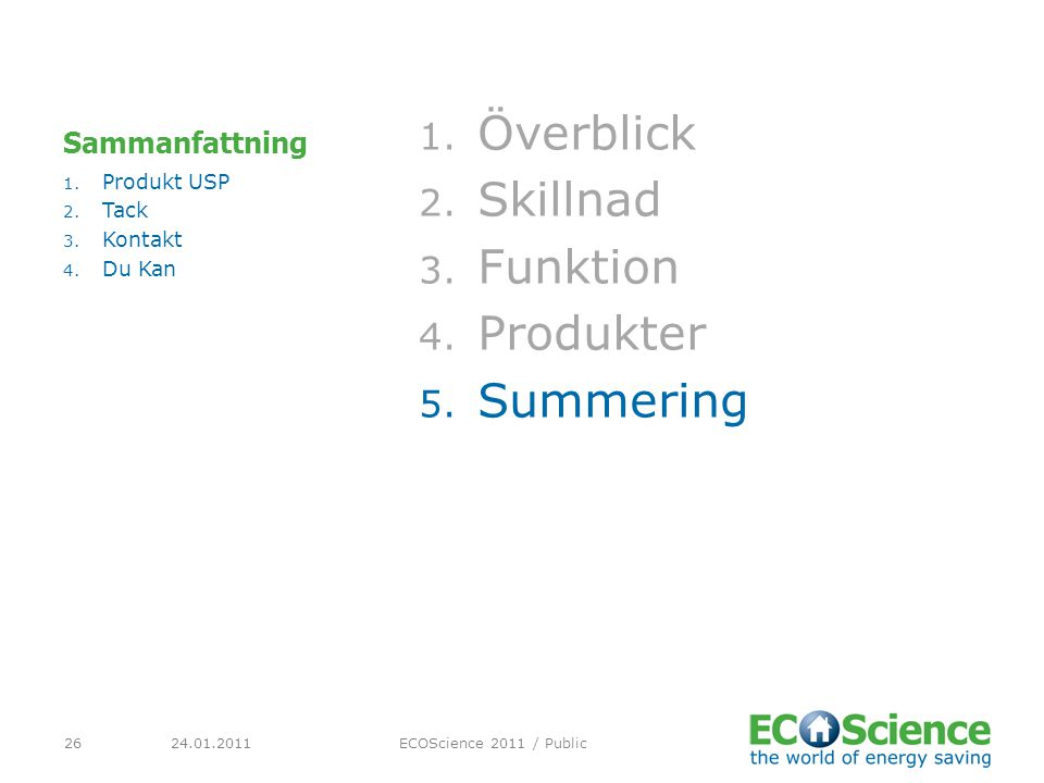 Överblick Skillnad Funktion Produkter Summering Sammanfattning