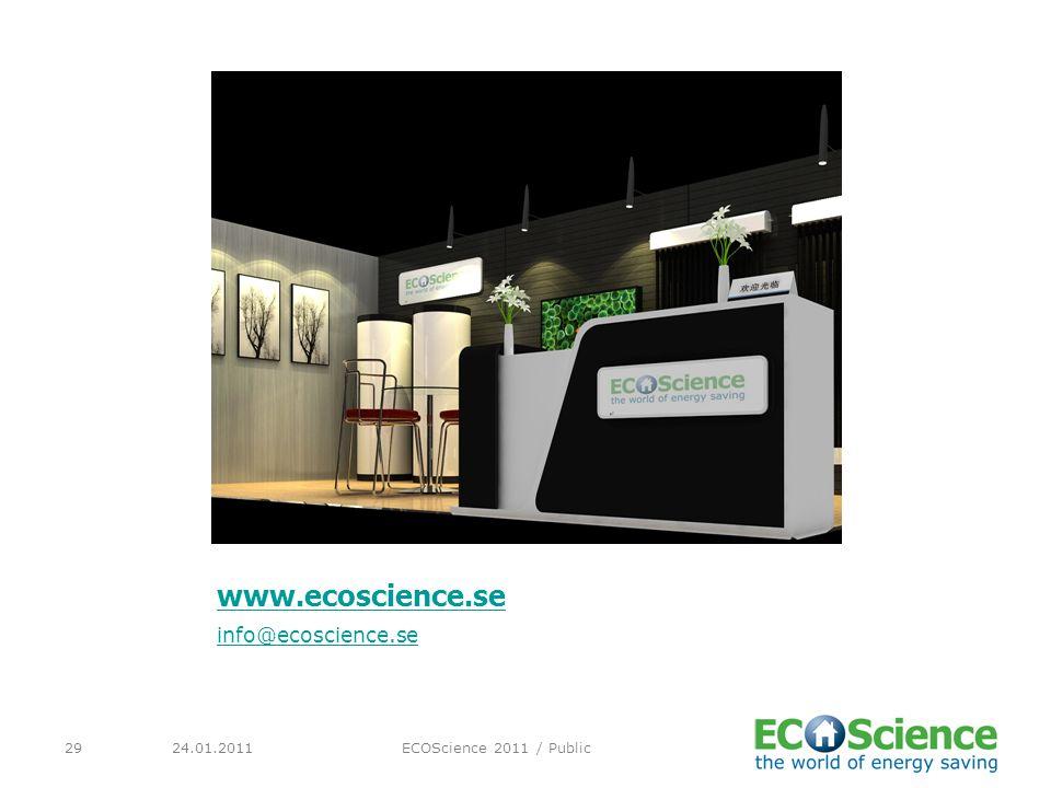 www.ecoscience.se info@ecoscience.se 24.01.2011