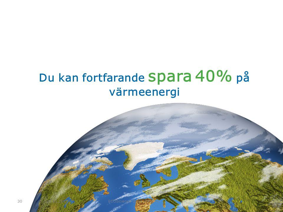 Du kan fortfarande spara 40% på värmeenergi