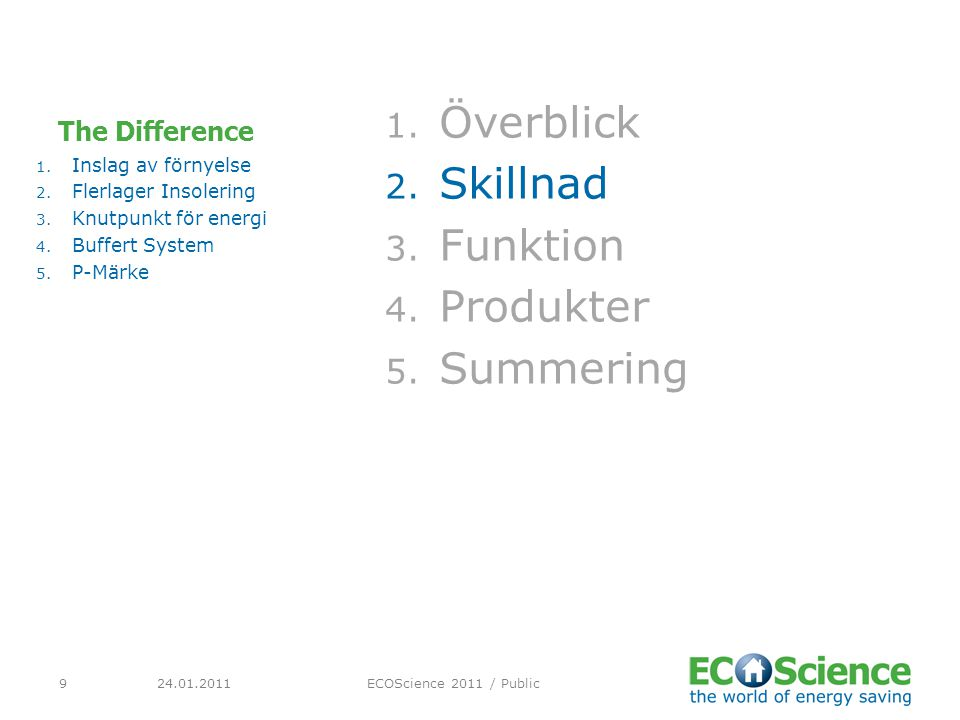 Överblick Skillnad Funktion Produkter Summering The Difference