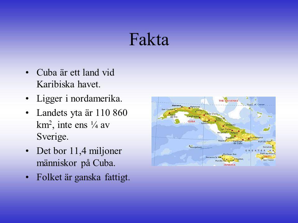 Fakta Cuba är ett land vid Karibiska havet. Ligger i nordamerika.