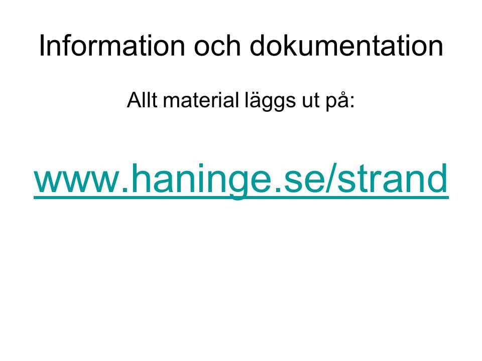 Information och dokumentation
