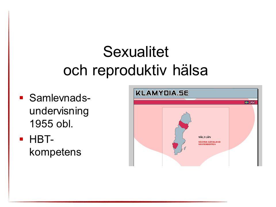Sexualitet och reproduktiv hälsa