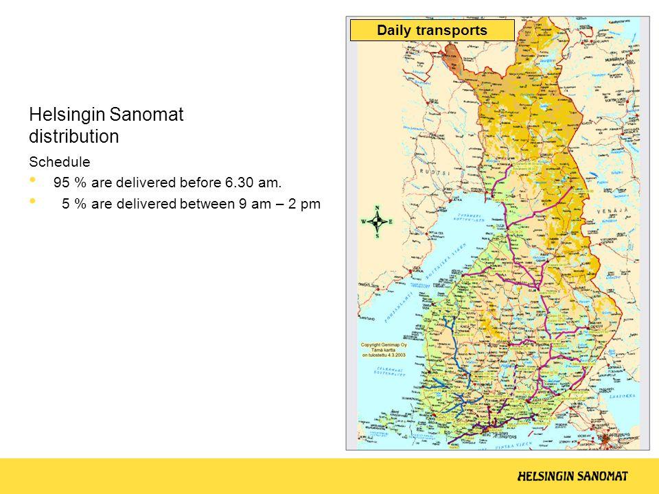 Helsingin Sanomat distribution