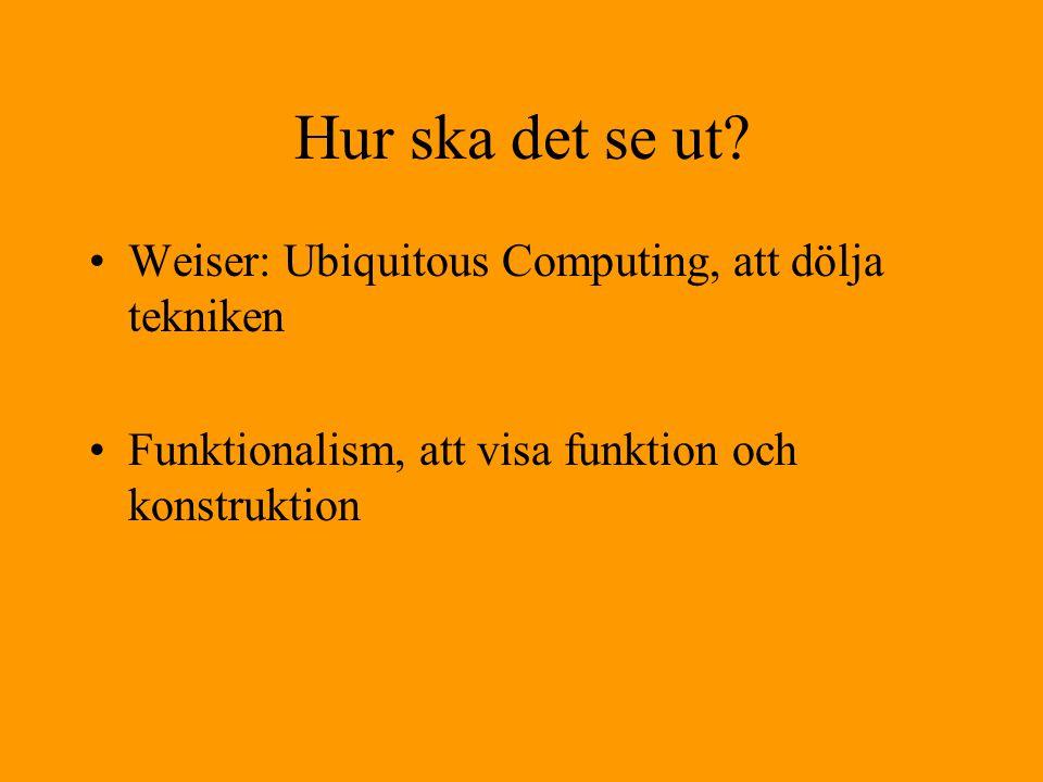 Hur ska det se ut Weiser: Ubiquitous Computing, att dölja tekniken
