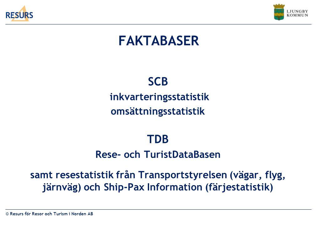 inkvarteringsstatistik omsättningsstatistik Rese- och TuristDataBasen