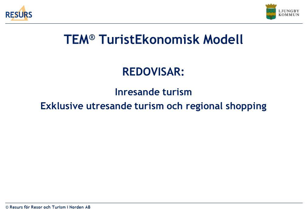 TEM® TuristEkonomisk Modell
