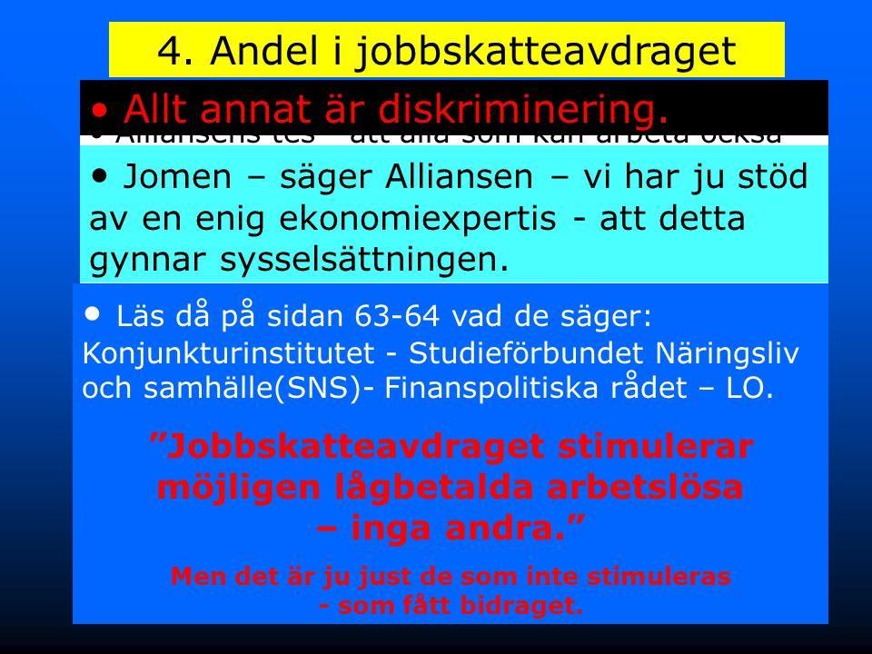 4. Andel i jobbskatteavdraget