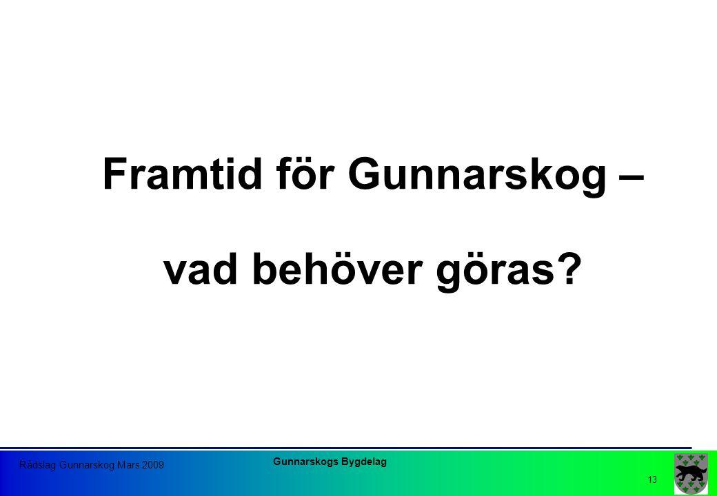 Framtid för Gunnarskog – vad behöver göras