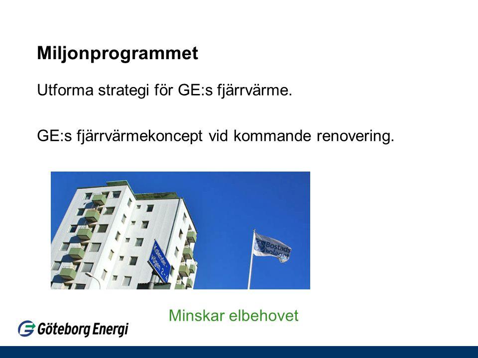 Miljonprogrammet Utforma strategi för GE:s fjärrvärme.