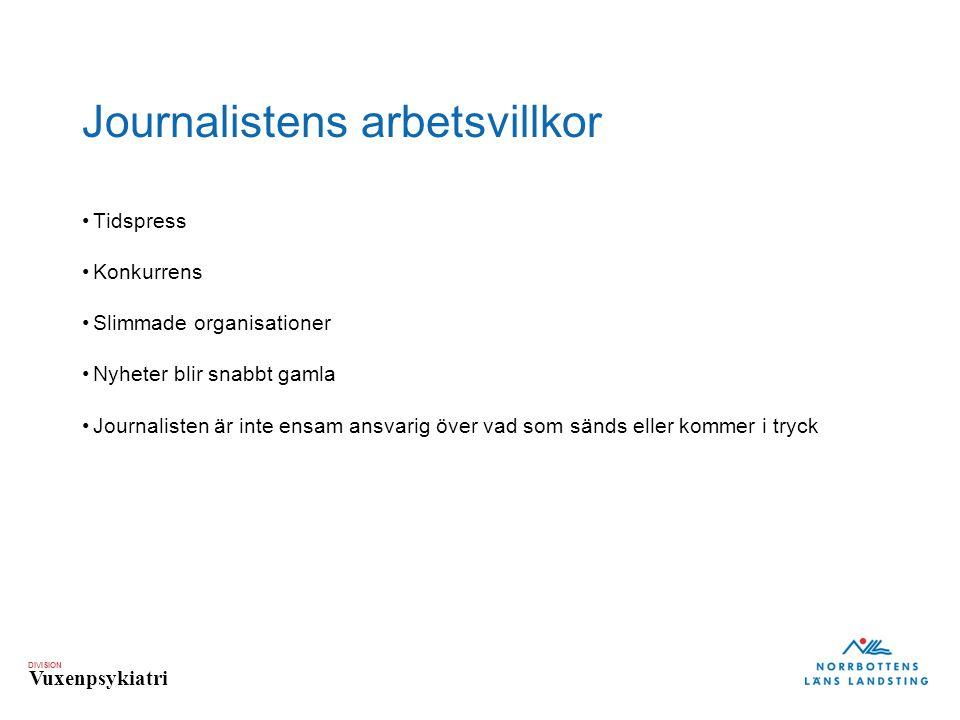 Journalistens arbetsvillkor