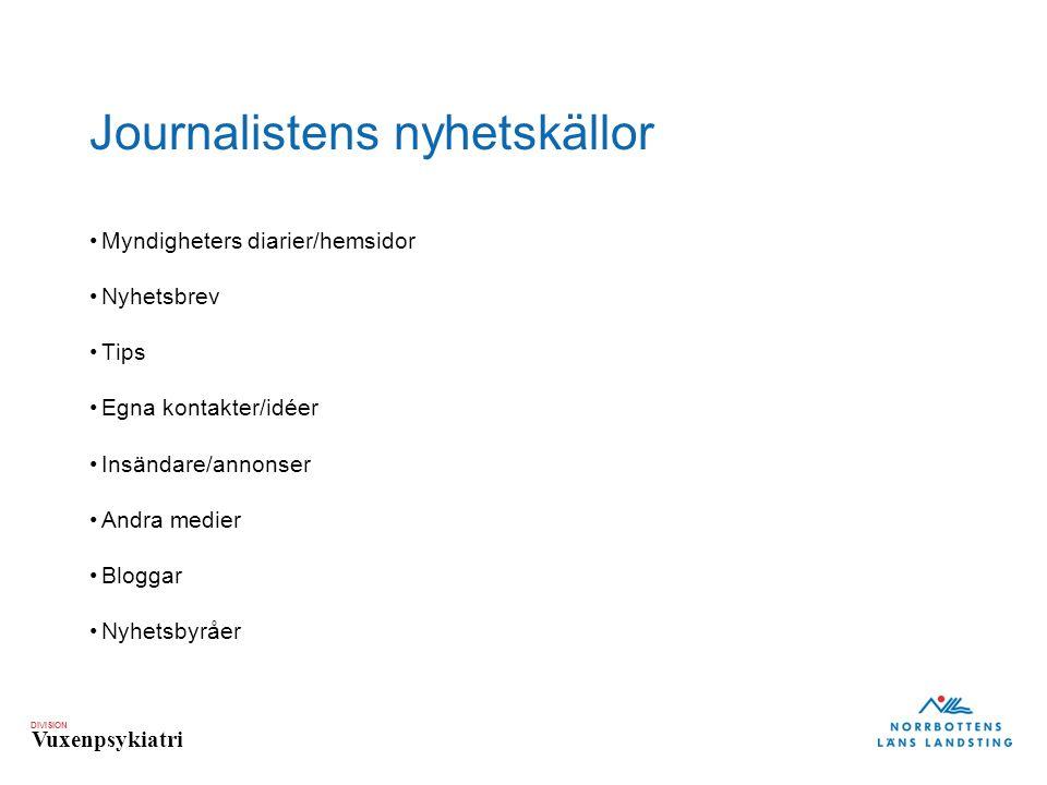 Journalistens nyhetskällor
