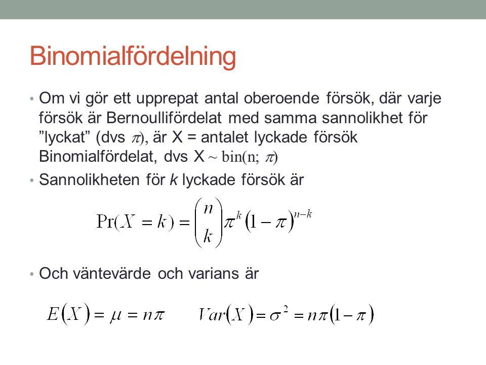 Binomialfördelning