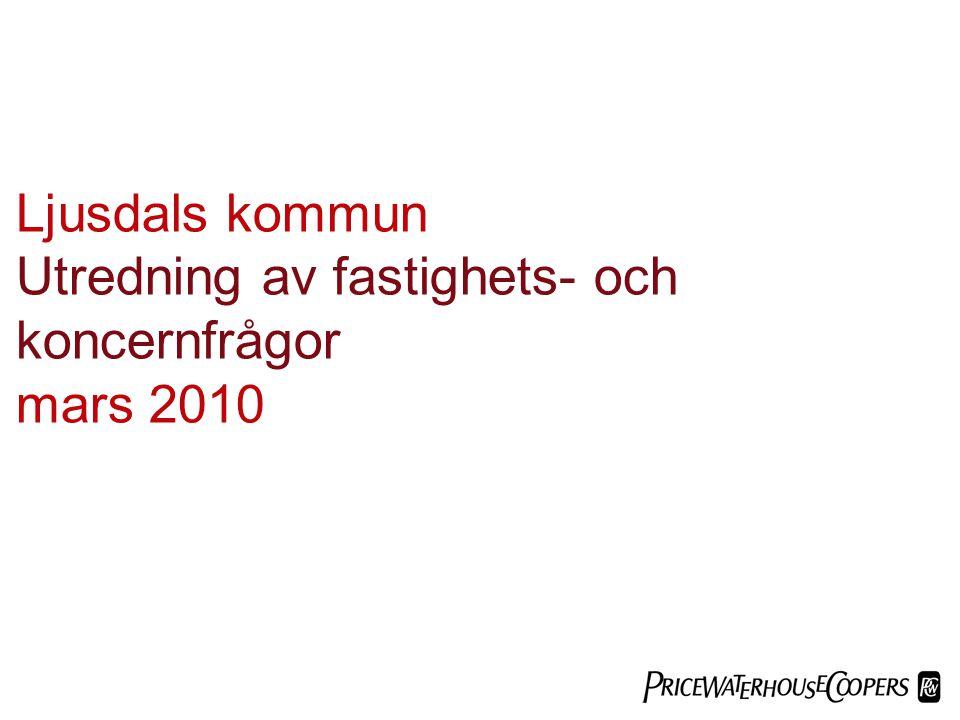 Utredning av fastighets- och koncernfrågor mars 2010