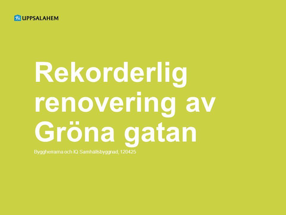 Rekorderlig renovering av Gröna gatan