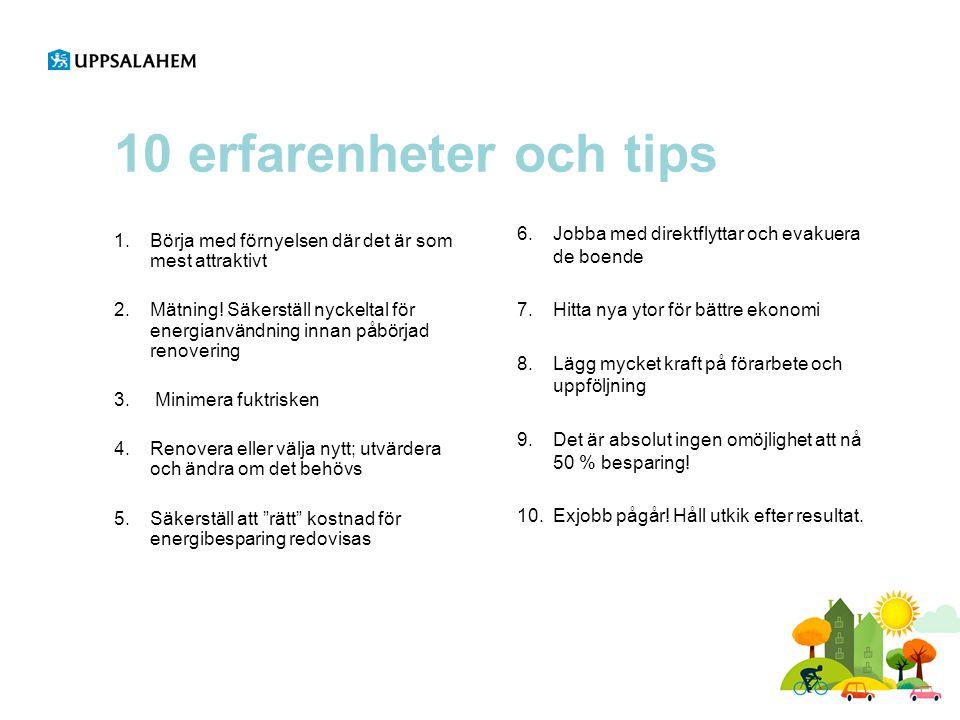 10 erfarenheter och tips Jobba med direktflyttar och evakuera de boende. Hitta nya ytor för bättre ekonomi.