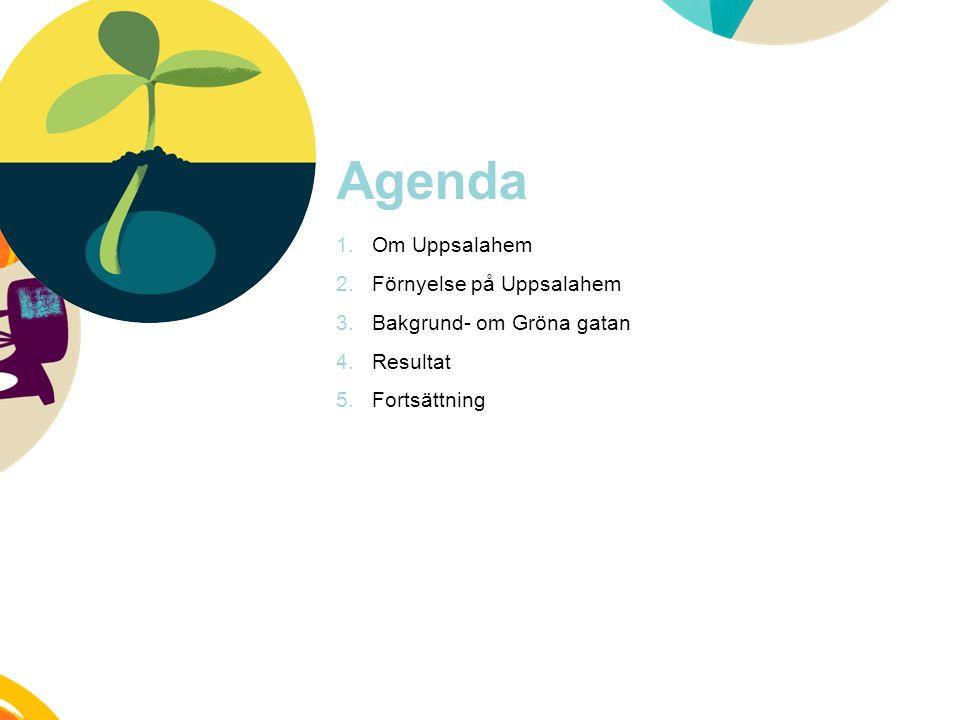 Agenda Om Uppsalahem Förnyelse på Uppsalahem Bakgrund- om Gröna gatan
