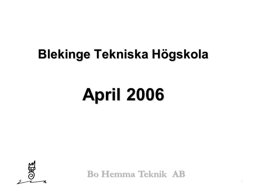 Blekinge Tekniska Högskola April 2006