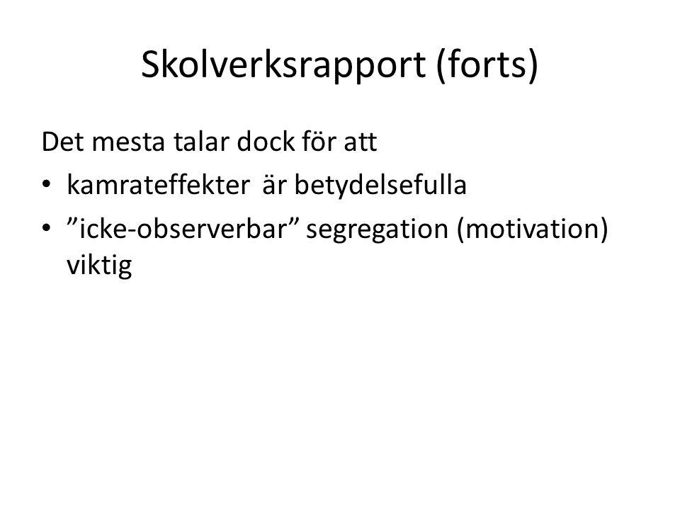 Skolverksrapport (forts)