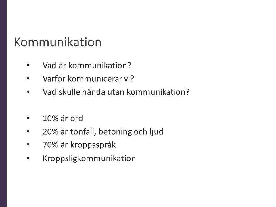 Kommunikation Vad är kommunikation Varför kommunicerar vi