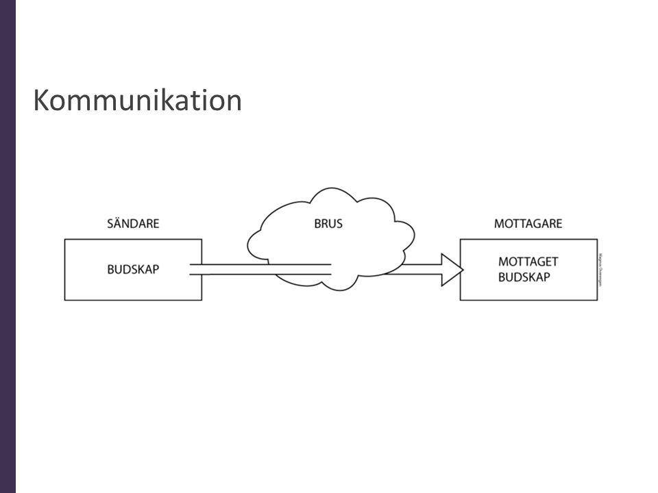 Kommunikation Mänskliga faktorn som en stor anledning till bristerna i kommunikationsprocessen.