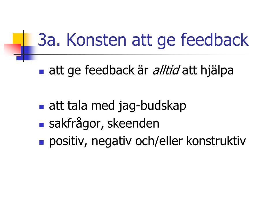 3a. Konsten att ge feedback