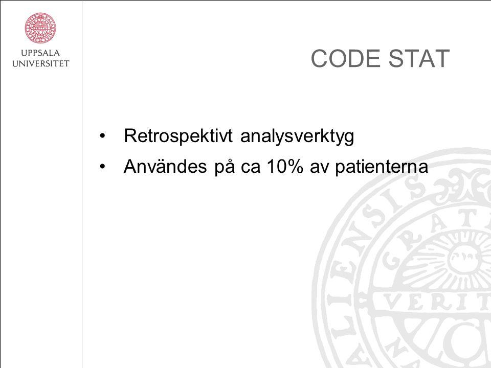 CODE STAT Retrospektivt analysverktyg