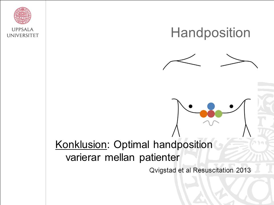 Handposition Konklusion: Optimal handposition varierar mellan patienter.