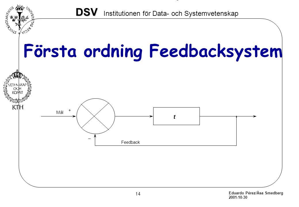 Första ordning Feedbacksystem