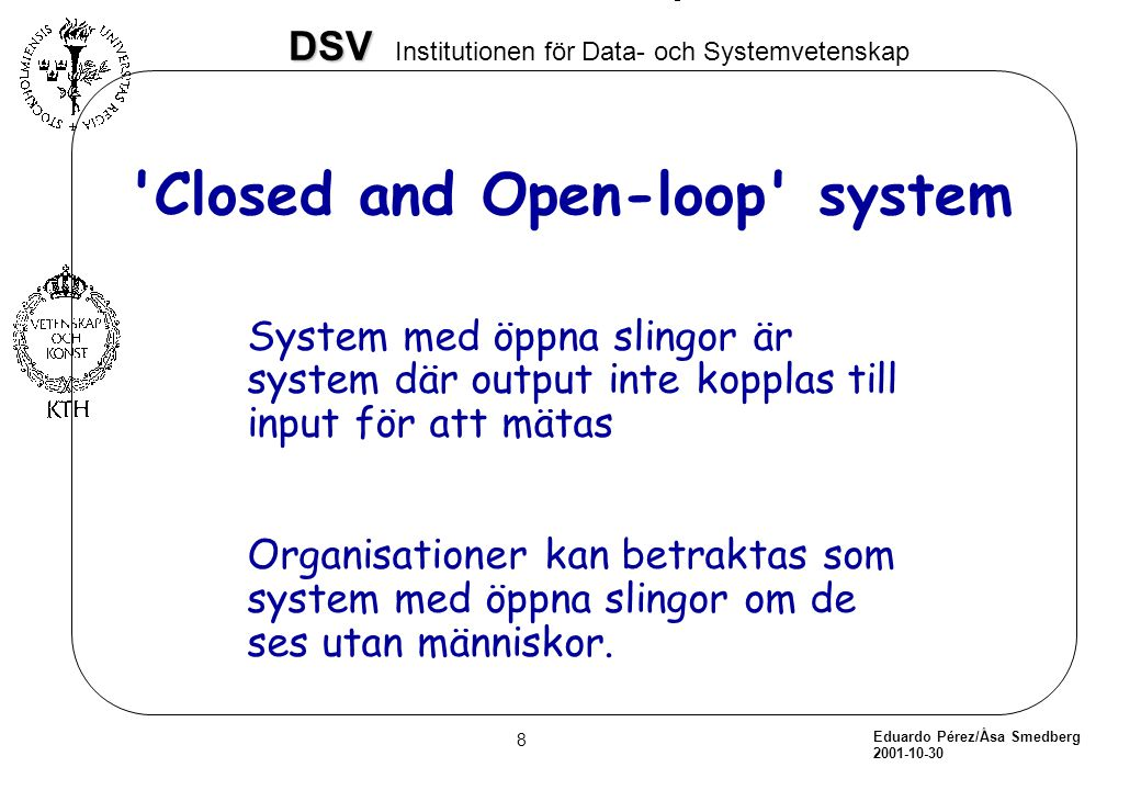 Closed and Open-loop system