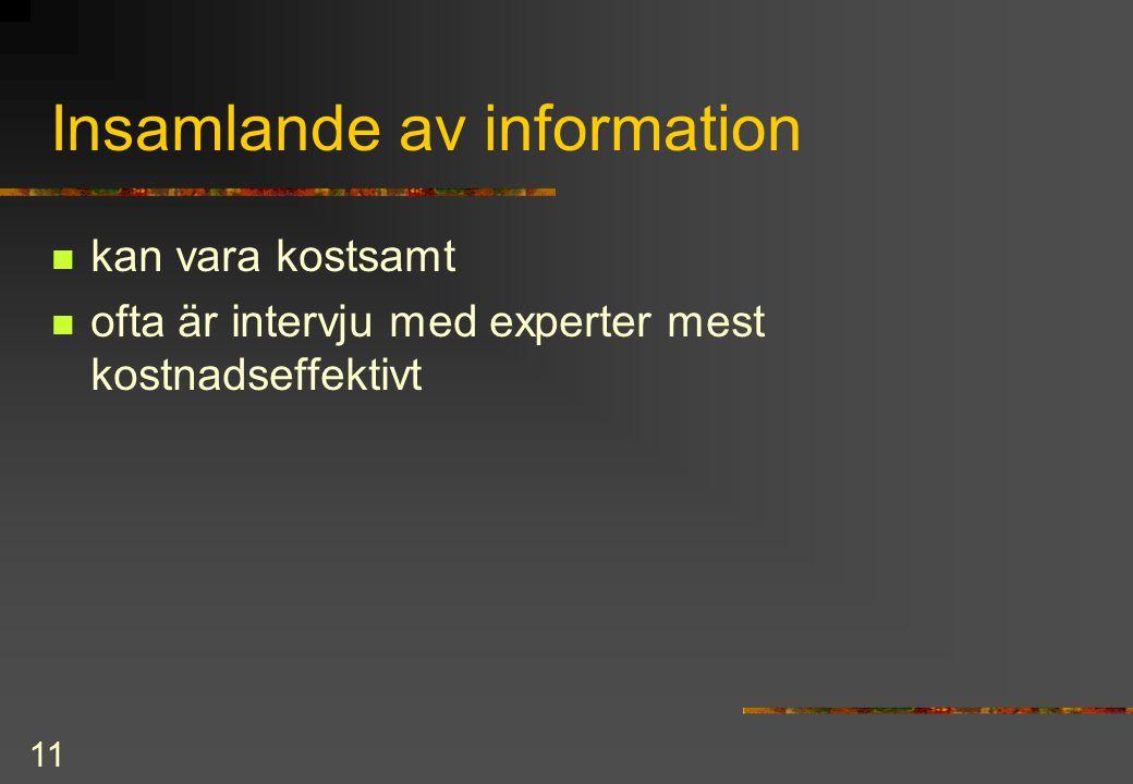 Insamlande av information