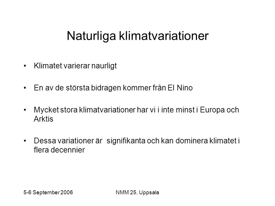 Naturliga klimatvariationer