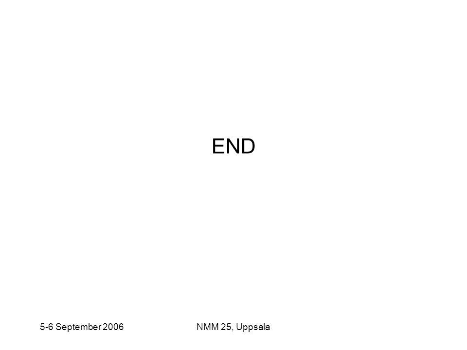 END 5-6 September 2006 NMM 25, Uppsala
